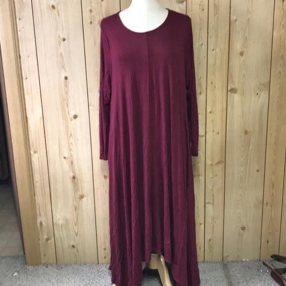 New Love In hi low maxi plus size dress pockets 1x